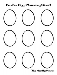 Egg Design Worksheet