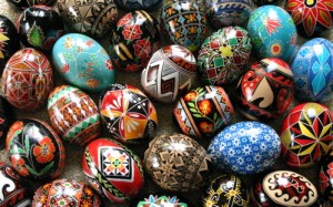 A collection of Ukranian Eggs