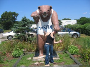 Me and Martin the Bear on the Cape